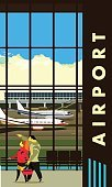 airport lounge vector