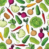 Vegetables background. Seamless pattern wallpaper