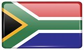 Flags South Africa in the form of a magnet on