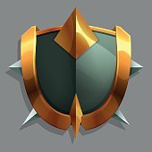Knightly shield. Vector illustration.