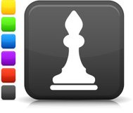 chess bishop icon on square button