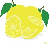 Lemon, slices of lemons,