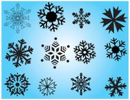 Very accurate Snowflakes -- vector