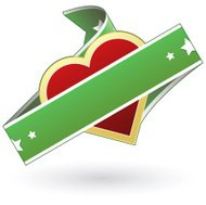 Heart food label sticker