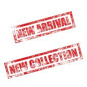 New Arrival, Collection stamp. Vintage rubber ink print