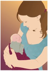 Mother and baby - Vector illustration