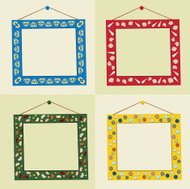 Group of Home-Made Crafty Picture Frames