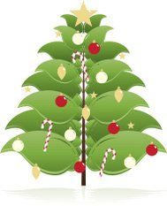Stylized Christmas Tree with Ornaments