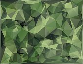 Abstract Vector Military Camouflage Background Geometric Triangles Shapes.Polygonal style.