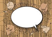Comic book background with blank speech bubble