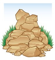 Rock Pile with Grass