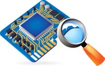 Icon of chipset and lens