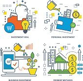 Concept of investment idea, personal and business , payment methods.