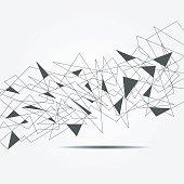 Abstract graphic consisting of points, lines