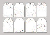 Blank confetti sale tags templates set