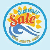 Summer Sale heading design for banner or poster.