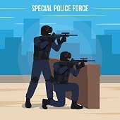 Special Police Force Vector Illustration