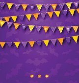 Halloween Party Background with Bunting