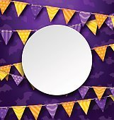 Clean Card with Colorful Bunting