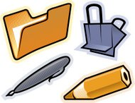 Vector objects of stationery