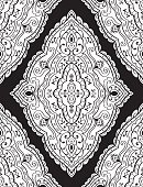 Abstract black and white ornament.