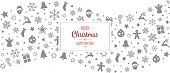 merry christmas type gray red decoration ornaments border