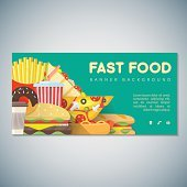 fast food banner backdrop template