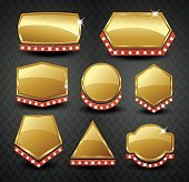 Set of blank golden vintage frame,banner,label,Vector EPS10