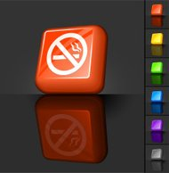 No smoking 3D button design