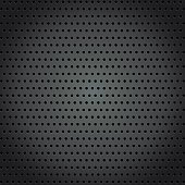 Steel background with circle perforated texture background.