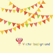 Buntings garlands background