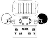 Football Design Elements (Black and White)