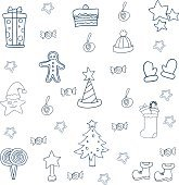 Doodle collection of christmas element
