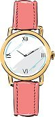 Ladies Watch Fashion Style Illustration