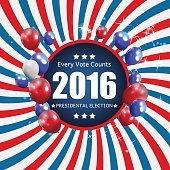 Presidential Election 2016 in USA Background. Can Be Used as