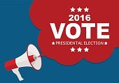 Presidential Election Vote 2016 in USA Background. Can Be Used
