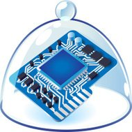 Icon of chipset under bell-glass