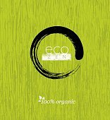 Eco Zen Circle Tree Creative Vector Rough Sign Concept