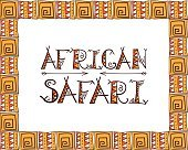 African safari concept with tribal lettering design