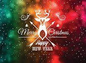 Christmas Vintage Blurred Background with Greetings Typing