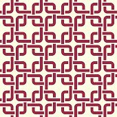 Graphic simple splicing ornamental tile, vector repeated pattern