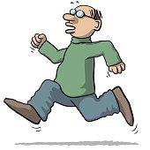 illustration of a man running