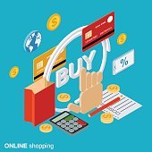Online shopping vector concept