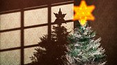 illustration of Christmas tree with a star