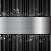 Concept New Year background with metallic elements
