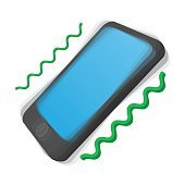 Smartphone vibrating cartoon icon