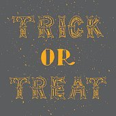 Vector Trick or Treat lettering phrase