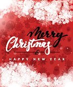 Merry Christmas and Happy New Year concept greeting card design.