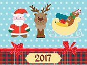 New Year poster with scrapbooking elements