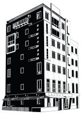 Low-angle view of an apartment building